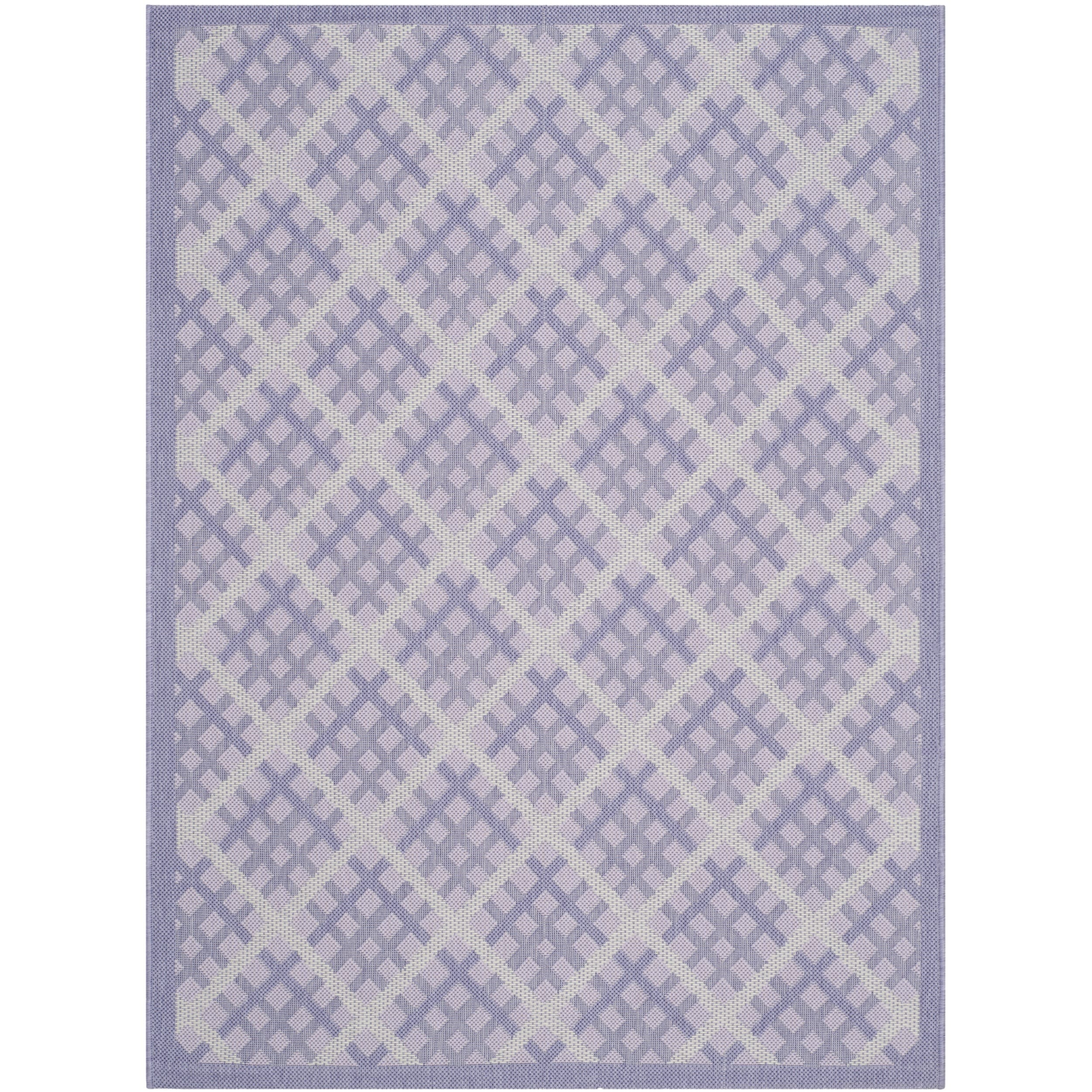 Safavieh Indoor/ Outdoor Courtyard Lilac/ Dark Lilac Rug (4' x 5'7) at Sears.com