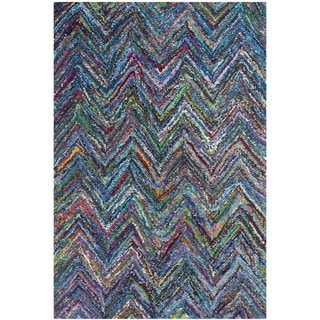 Safavieh Handmade Nantucket Blue/ Multi Cotton Rug (3' x 5')