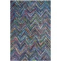 Safavieh Handmade Nantucket Blue/ Multi Cotton Rug (3' x 5')