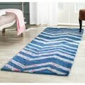 Safavieh Handmade Nantucket Blue/ Multi Cotton Rug (2' x 3')