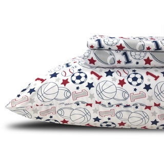 Printed Sports Kids/ Teen Twin Sheet Set