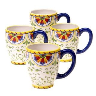 Amalfi 18-ounce Ceramic Mug (Set of 4)