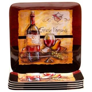 Certified International Estate Wine 10.5-inch Melamine Dinner Plate (Set of 6)