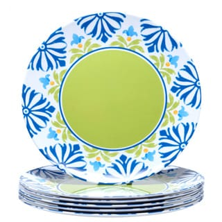 Certified International Mediterranean 11-inch Melamine Dinner Plate (Set of 6)