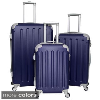 Dejuno Departures 3-piece Hardside Spinner Luggage Set with Combination Lock