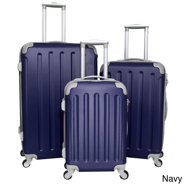 Dejuno departures 3 piece hardside spinner luggage set with combination lock 16261122