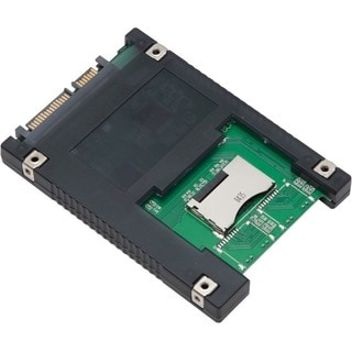 Syba 2.5-inch SATA to 2x SD Adapter Economical SSD Built-in RAID Functionality