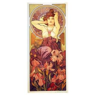 Alphonse Mucha 'Amethyst' Fine Art Giclee Prints