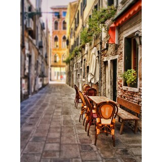 Sylvia Cook 'Sidewalk Cafe in Venice' Fine Art Giclee Prints