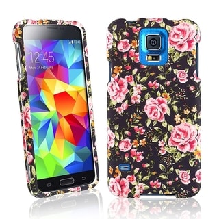 BasAcc Vintage Rose Rubberized Plastic Snap-on Case for Samsung Galaxy S5/ SV