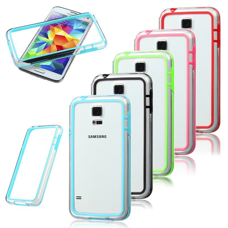 BasAcc Colorful Clear Bumper Case Phone Protector Cover for Samsung Galaxy S5/ SV