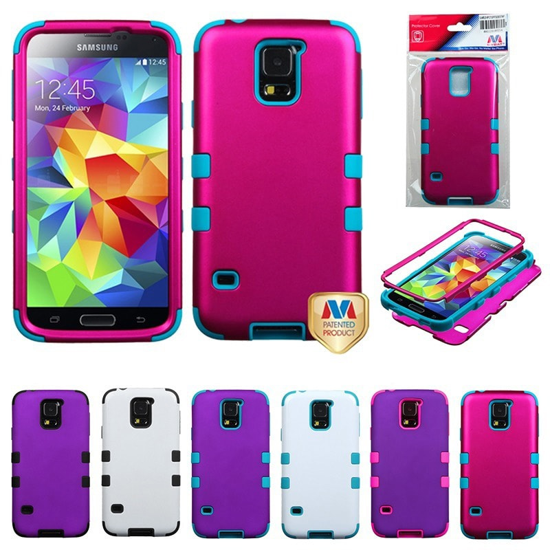 BasAcc High Impact Hybrid Dual Layer Protective Case for Samsung Galaxy S5/ SV