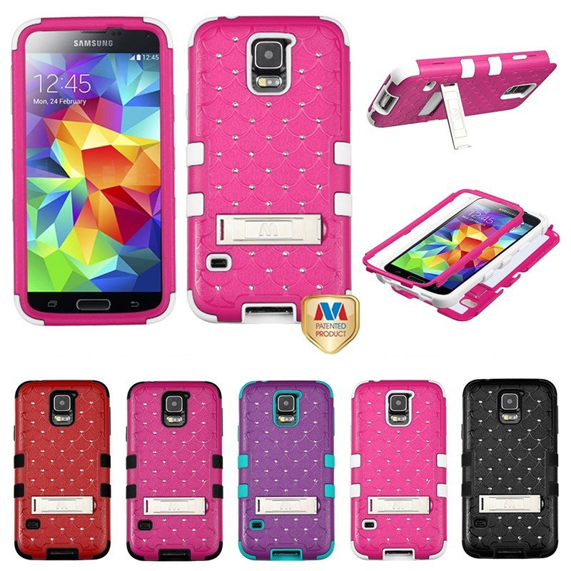 BasAcc With Diamonds Hybrid Dual Layer Protective Case for Samsung Galaxy S5/ SV