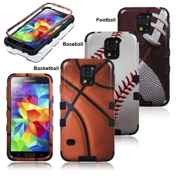 INSTEN Sports Hybrid Dual Layer Protective Phone Case Cover for Samsung Galaxy S5/ SV