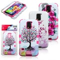 INSTEN High Impact Hybrid Dual Layer Protective Phone Case Cover for Samsung Galaxy S5/ SV
