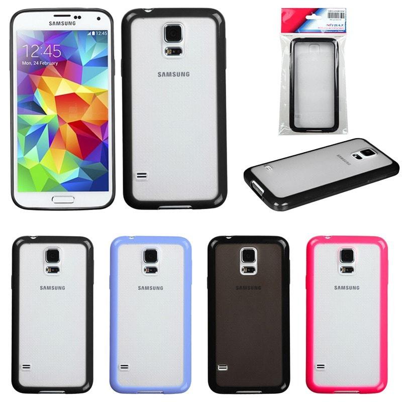 INSTEN TPU Rubber Soft Gel Gummy Skin Phone Case Cover for Samsung Galaxy S5/ SV