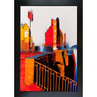 Ivan Nelubovich 'Kalinkin Bridge (SPB 801)' Hand Painted Framed Canvas Art