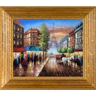Au Revoir To The Light or Paris II' Hand Painted Framed Canvas Art