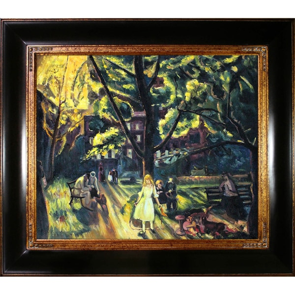 George Wesley Bellows 'Gramercy Park, 1920' Hand Painted Framed Canvas Art