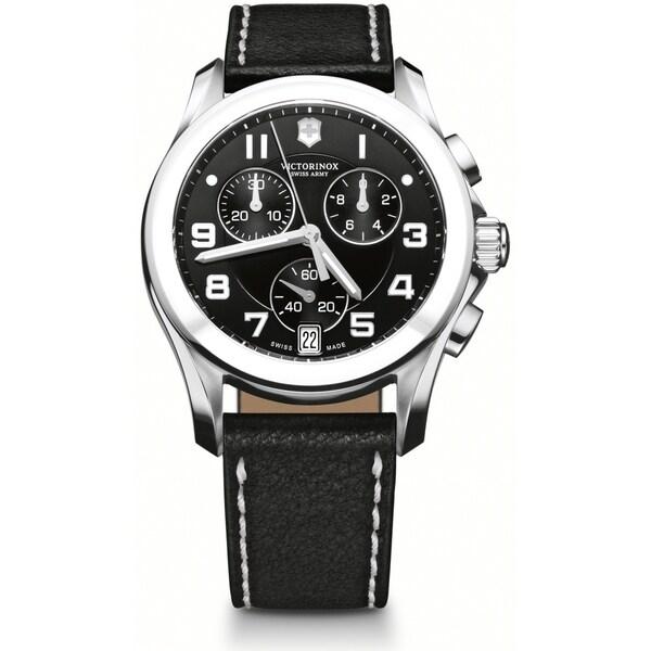 Swiss Army Women's 241501 Chrono Classic Black Dial Ceramic Bezel Watch