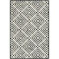 Safavieh Hand-hooked Newport Black/ White Cotton Rug (5'6 x 8'6)