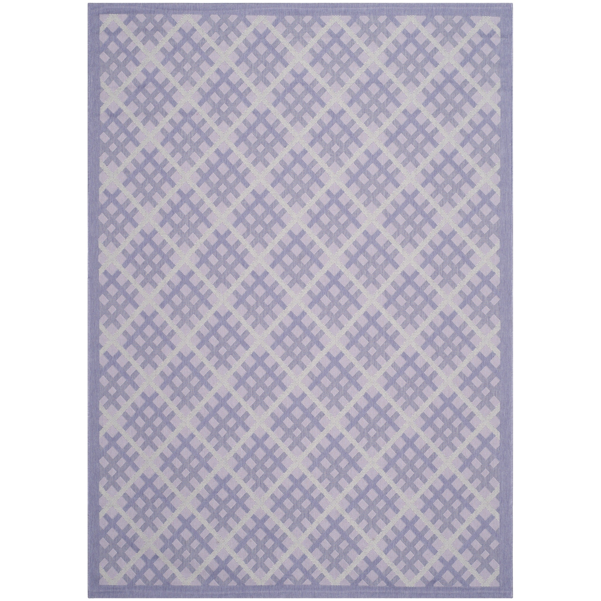 Safavieh Indoor/ Outdoor Courtyard Lilac/ Dark Lilac Rug (6'7 x 9'6) at Sears.com