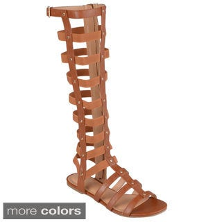 Journee Collection Women's 'Andrea-2' Tall Strappy Gladiator Sandals