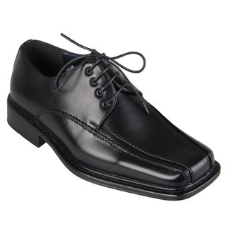 Boston Traveler Men's Square Toe Lace-up Oxfords