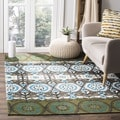 Safavieh Hand-loomed Cedar Brook Green/ Teal Cotton Rug (5' x 8')