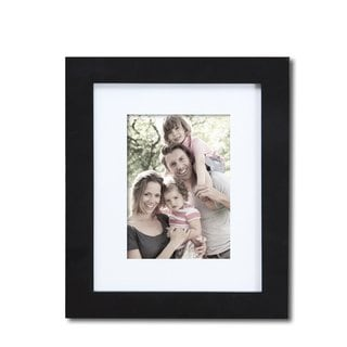 Adeco Black Matted Wood Picture Frame