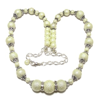 Ivory Moonscape Glass Pearl 4-piece Wedding Jewelry Set