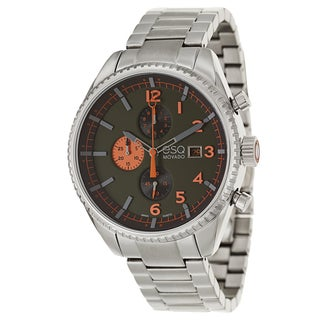 ESQ by Movado Men's 07301447 'Catalyst' Stainless Steel Olive Green/ Orange Dial Watch