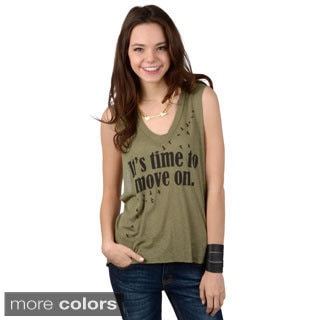 Hailey Jeans Co. Junior's Sleeveless Graphic Tee