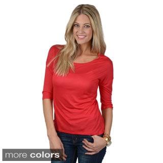 Hailey Jeans Co. Junior's Half-sleeve Round Neck Tee