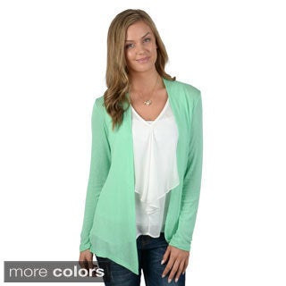 Hailey Jeans Co. Junior's Open Front Long Sleeve Cardigan`