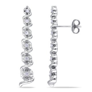 M by Miadora Sterling Silver 1/4ct TDW Diamond Earrings (J-K, I2-I3)