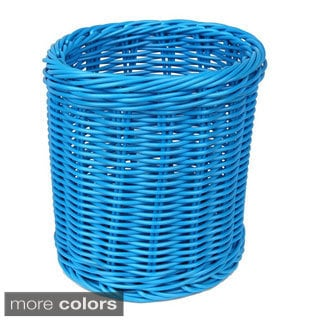 Colorbasket Solid Cord Polypropylene 3-Piece Utensil Holder Basket Set