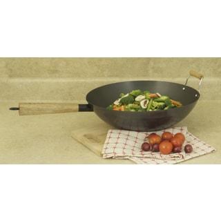 ExcelSteel 14-inch Professional Heavy Duty Carbon Steel Wok