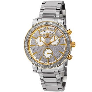 Joshua & Sons Women's Diamond Chronograph Stainless Steel Two-Tone Watch