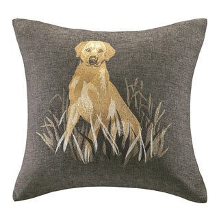 Woolrich Oak Harbor Dog Embroidery 20-inch Throw Pillow