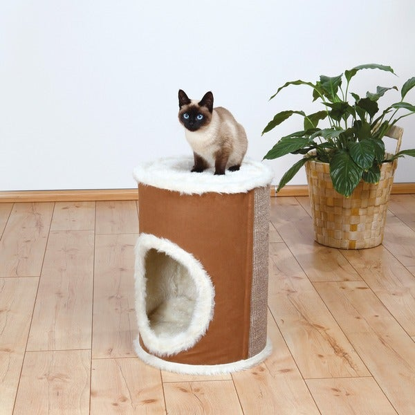 Trixie Adamo 21-inch Long-haired Plush Cat Tower