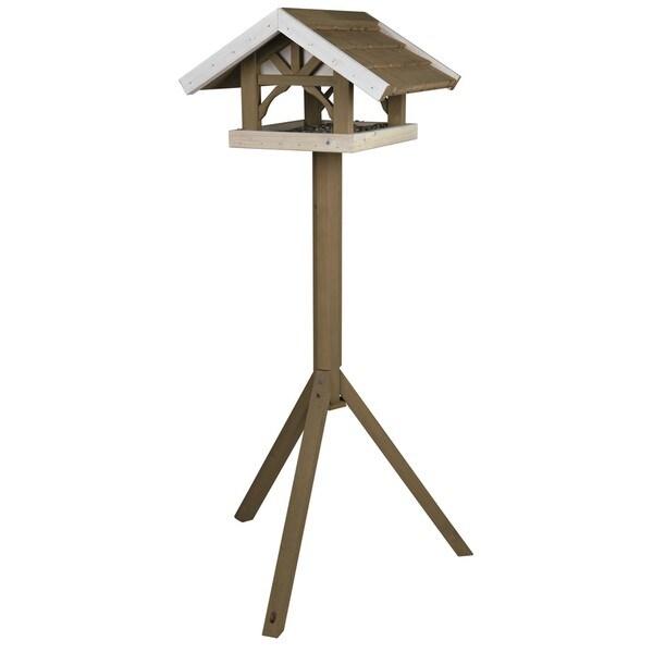 Trixie Nantucket Wooden Bird Feeder with Tripod Stand