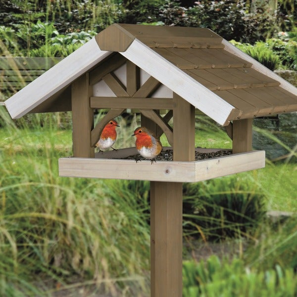 Trixie Nantucket Wooden Bird Feeder with Tripod Stand