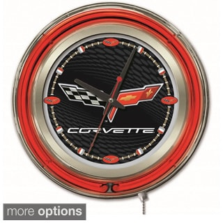 Holland Bar Stool Company Neon Corvette Clock