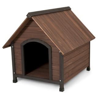 Aspen Pet Ruff Hauz Peak Roof Wooden Dog House