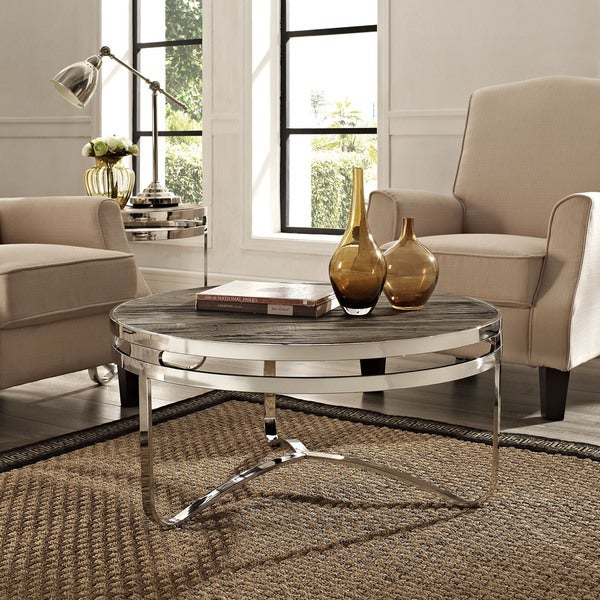Provision Wood Top Coffee Table in Brown