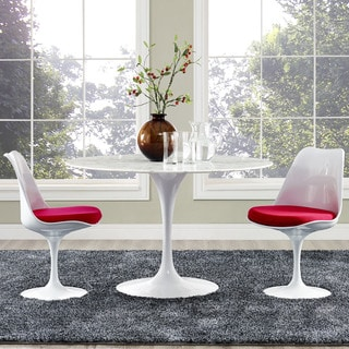 "Lippa Marble Top 47"" Dining Table in White"