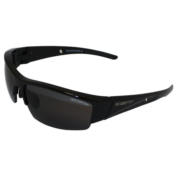 Bobster Ryval Street Sunglasses Gloss Blk Frame Smoked Lens