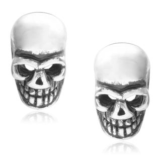 Journee Collection Sterling Silver Skull Stud Earrings