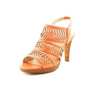 Adrienne Vittadini Women's 'Prim' Leather Sandals - Extra Wide (Size 8.5 )